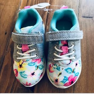 Carter's floral print padded insole sneaker size 5